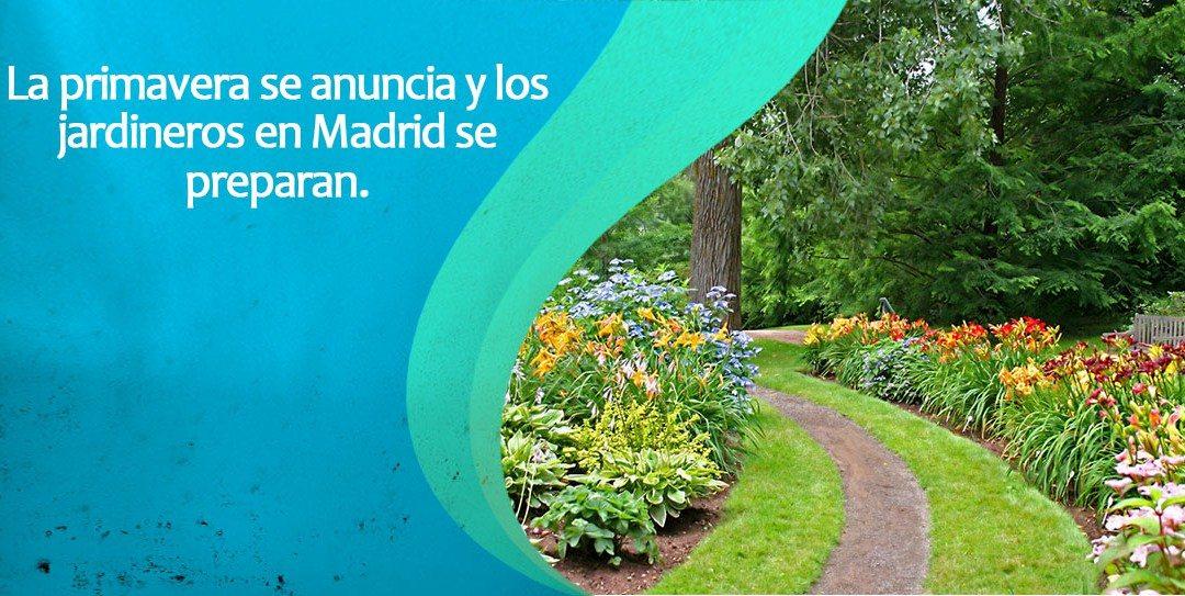 Los jardineros de Madrid se preparan para la primavera