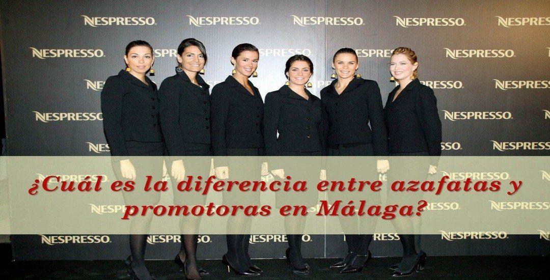 ¿Cuál es la diferencia entre azafatas y promotoras en Málaga?