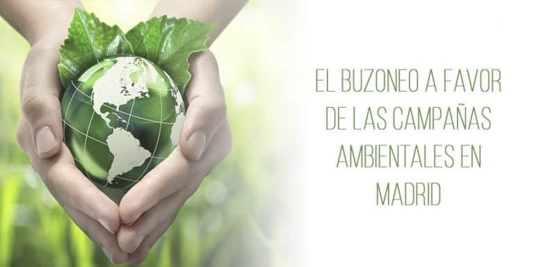 El buzoneo a favor de las campañas ambientales en Madrid