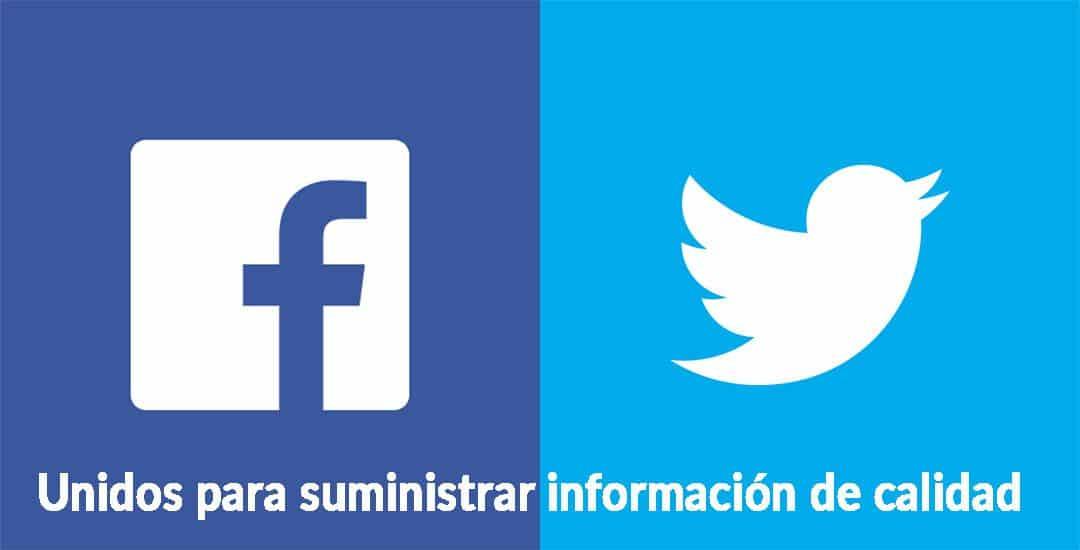 Facebook y Twitter redes que se unen para impartir información de calidad